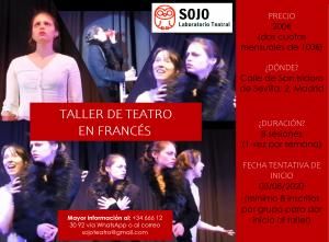 Sojo Teatro en Madrid - Taller de teatro en francés.